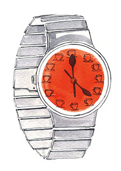 illustration of a watch