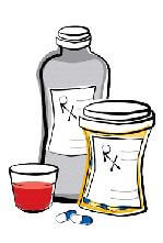 illustration of pill bottles