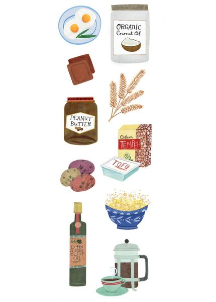Illustration of foods