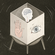 Illustration of a box containing a brain with an eye and a palm on the front