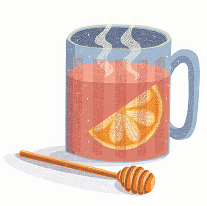 illustration of a hot toddy